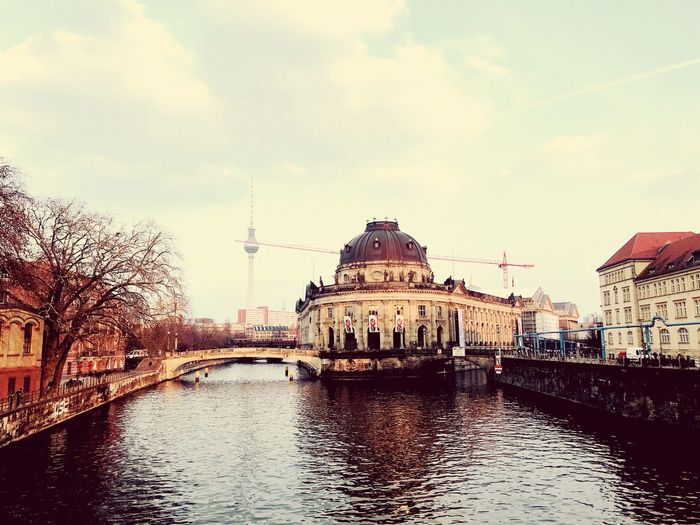 Crane Bodemuseum Berlin Berlin Photography Building Exterior Water Architecture Built Structure Sky Waterfront Building
