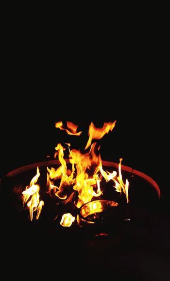 Fire Ball Shots Night Black Background Foundry Metal Industry Heat - Temperature Molten Flame Close-up Bonfire Burning Fire Heat Glowing Fire - Natural Phenomenon Lit Fire Pit