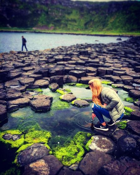 Ripples in the Rockpools Rockpool Giants Causeway Ireland Northern Ireland Causeway Coast Water Childhood