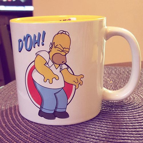 Open Edit New Mug Check This Out Hello World Homer