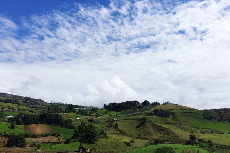 Mountains Nature Taking Photos Costa Rica Cartago Countryside Blue Sky