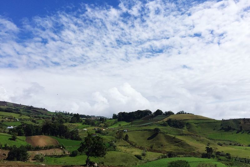 Mountains Nature Taking Photos Costa Rica Cartago Countryside Blue Sky