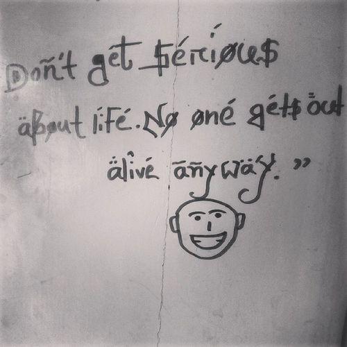 Writings On My Wall Life Door Cartoon Truth
