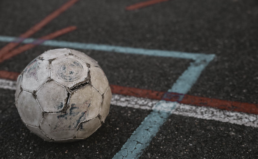 // this was my first time ever in Paris. So many Colours and so many different Cultures are living here. // The Traveler - 2018 EyeEm Awards Ball Close-up Competition Court Day Focus On Foreground High Angle View No People Outdoors Playing Field Road Shape Single Object Soccer Soccer Ball Sport Sports Equipment Still Life Team Sport Urban Wallpaper White Color Yard Line - Sport Summer Sports