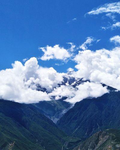 Mountain Beauty Tree Tea Crop Blue Forest Snow Sky Landscape Cloud - Sky