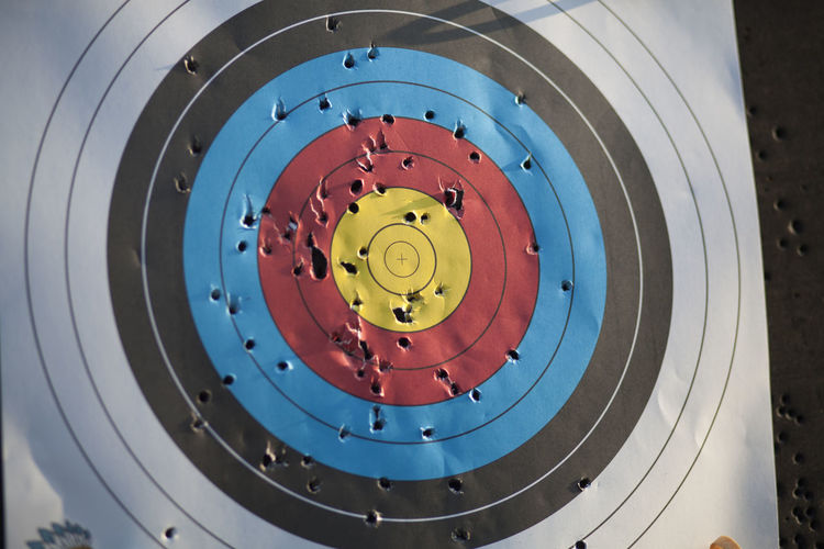 Accuracy Circle Close-up Concentric Day Indoors  No People Sport Sports Target