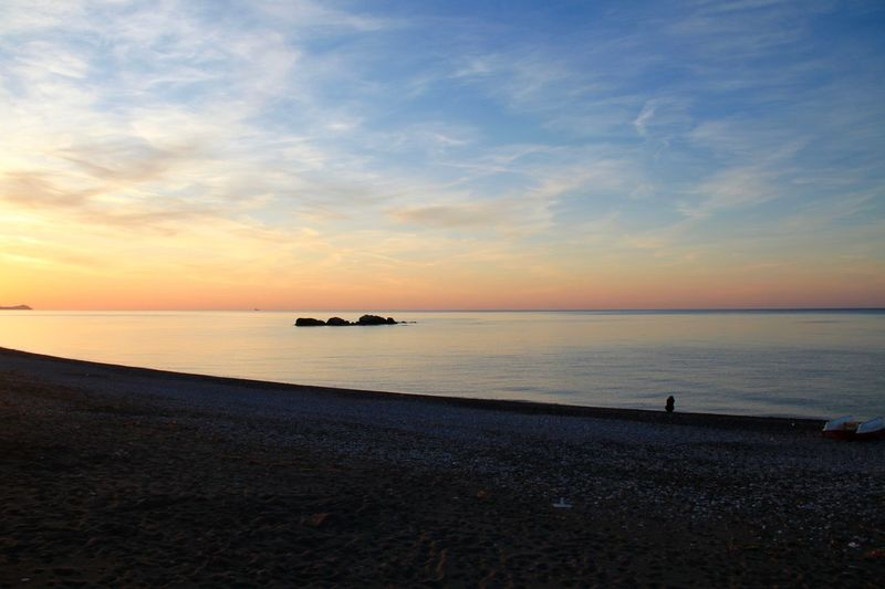 Beach Beauty In Nature Desktop Gennadi Horizon Over Water Nature No People Outdoors Rhodes Ródos Scenics Sea Sky Sunrise Sunset Tranquil Scene Tranquility Water