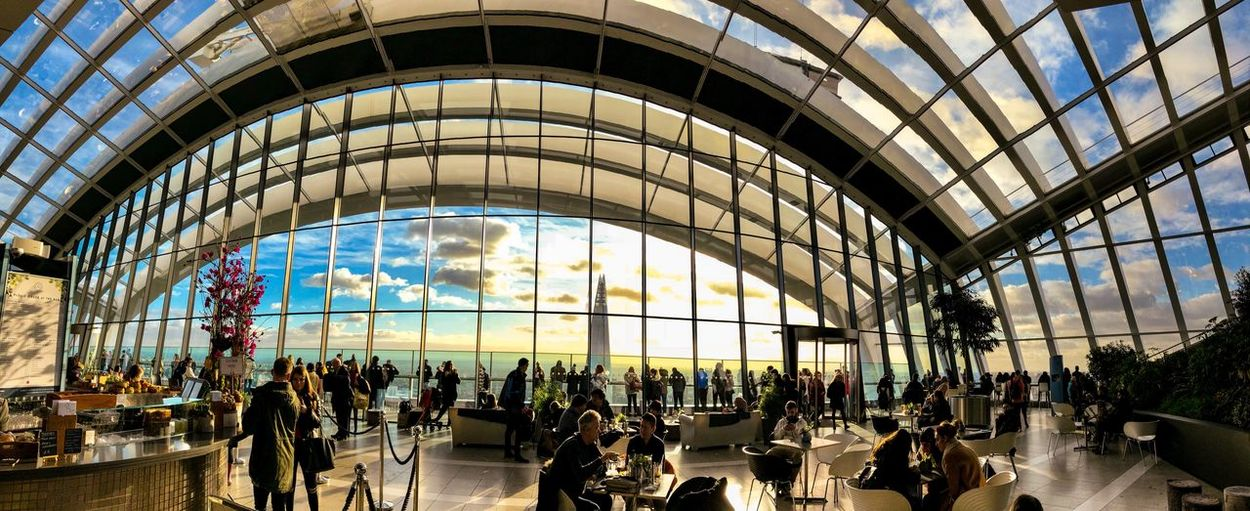 Pano-senic Cityscape Architecture Landscape Panorama Panoramic Winter Sunset Sky Garden IPhone X IPhone Only Mobile Photography IPhoneography IPhone Travel People Modern Large Group Of People Indoors  Travel Destinations