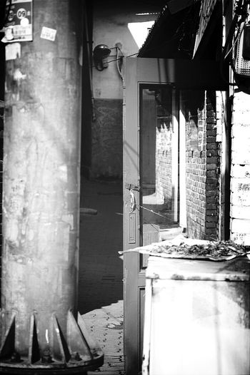 Alley Small Village Still Afternoon Monochrome @korea inchun booksung-dong @Panasonic GF2 / 20mm f1.7