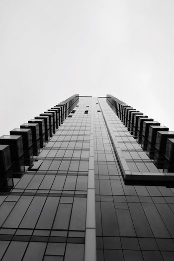 Blackandwhite Photooftheday Sky Architecture Built Structure Building Exterior Clear Sky Low Angle View Copy Space City Building Office Building Exterior Tall - High