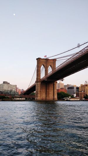 the Brooklyn bridge! Brooklyn Bridge  Brooklyn Bridge / New York Hudson River City Cityscape Water Golf Club Urban Skyline Bridge - Man Made Structure River Sky Architecture Built Structure