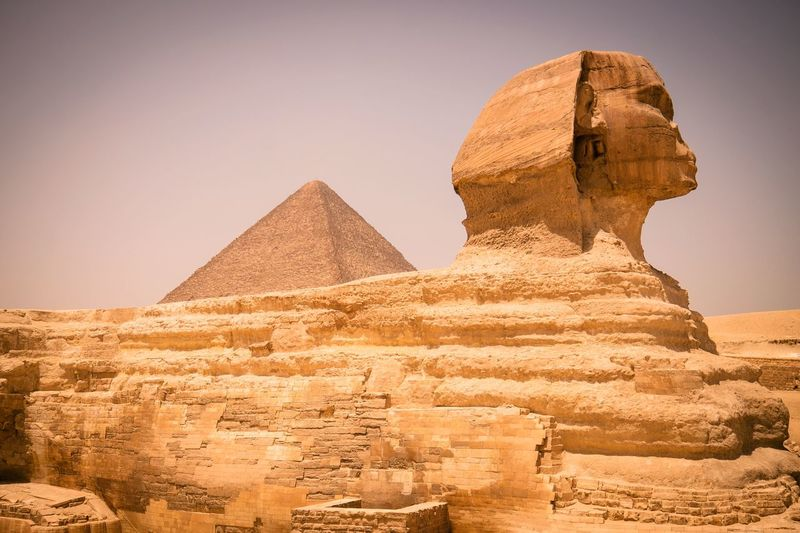 Side view of the sphinx