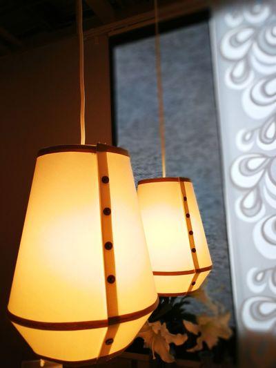 Indoors  Close-up Pendant Lamp Lighting Decoration Interior Double Dark