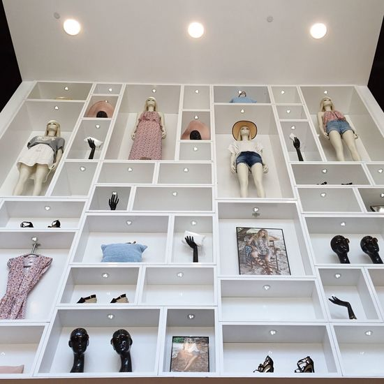 Retail Therapy Shopping Urban Geometry Urban Landscape Visual Merchandising amazing wall set up.