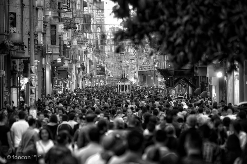 Taksim - TÜNEL Blackandwhite City Life City Street Istanbul Real People Street Street Photography Streetphoto_bw