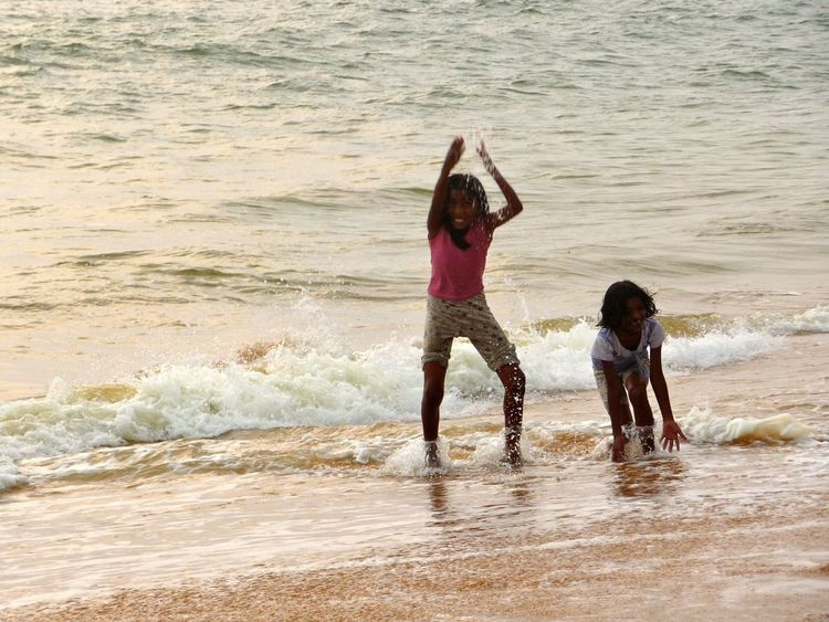 Girl Power Indian girls at the beach - having so much fun, laughing and enjoying themselves Girls Fun Having Fun Enjoying Life India Trivandrum Beach Fun Traveling Laughing Enjoy Enjoy The New Normal