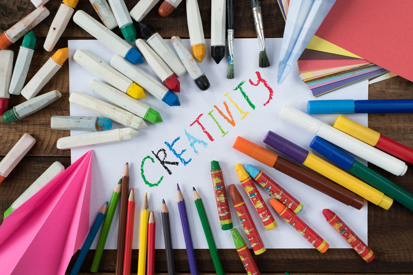 creativity background Creativity EyeEm Selects Magic Pen Water Colour Art Backgrounds Colored Pencil Colouring  Concept Crayon Creative Day Equipment Ideas Inspiration Large Group Of Objects Month Multi Colored Paper Pencil School Table Tools Variation Vision