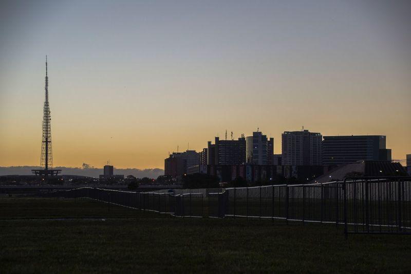 Muro Na Esplanada Esplanada Dos Ministérios Brasília Impeachment