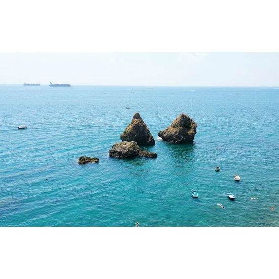 A Vietri sul Mare. Vietrisulmare Italy Sea Sky Blue Beautiful Summertime Travel