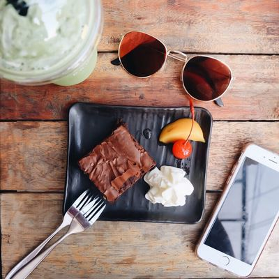 Brownie Check This Out Relaxing Taking Photos Enjoying Life Photooftheday Ice Cream Foodporn EyeEm Best Shots Sweet Brownie Chocolate