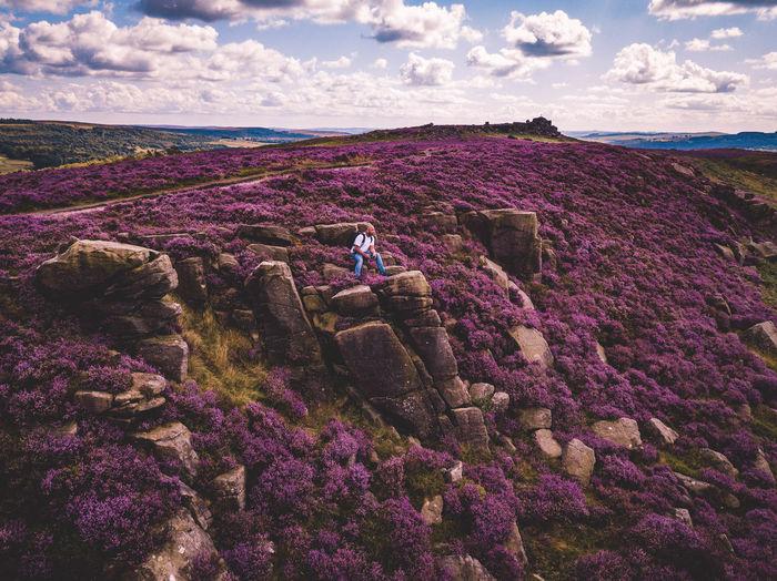 Tourist on cliff