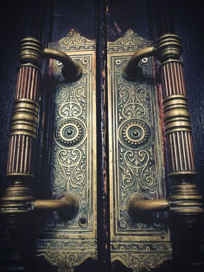 Ornaments Ornamental Door Close-up Ornate Decorative Handle Door Handle Mistery Misterious Safety Protection Indoors