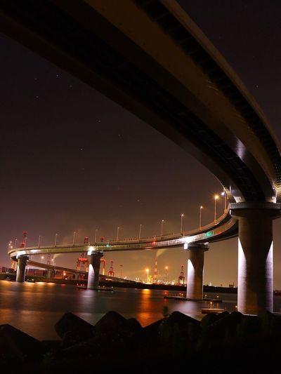 EyeEm Best Shots Night Architecture Bridge - Man Made Structure Bridge Water Built Structure Connection