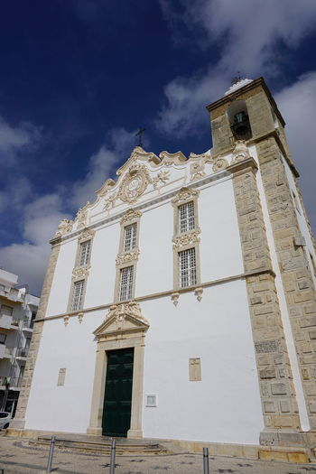 Outdoors Portugal Portugal_lovers Algarve Algarve, Portugal Olhao Olhao Portugal Built Structure Architecture Building Exterior Sky Low Angle View Cloud - Sky Building Belief Religion Spirituality Place Of Worship Nature No People Day Window Tower History