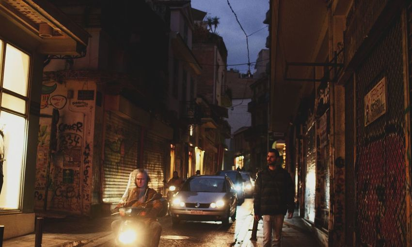 Athens Athens, Greece Street Architecture Streetphotography City City Street Car Night Travel Destinations Illuminated People Adults Only Outdoors Beautiful Evening View Cars Light And Shadow Cityscape EyeEm Best Shots Greece Built Structure 2017 Travel EyeEmNewHere Welcome To Black The Photojournalist - 2017 EyeEm Awards The Street Photographer - 2017 EyeEm Awards Your Ticket To Europe