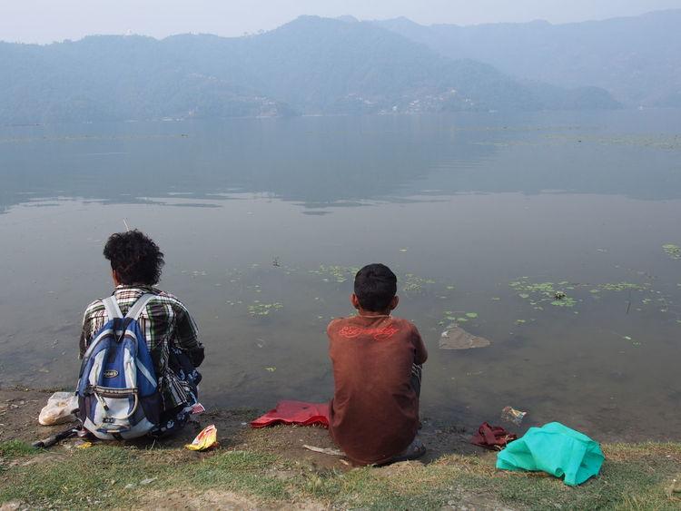 EyeEm Nature Lover Photooftheday Pokhara, Nepal Pokhara Lake Water Two People Adult Outdoors Day Nature Lifestyles Travel Travel Destinations Travel Photography Nepal Travel Nepal Long Goodbye