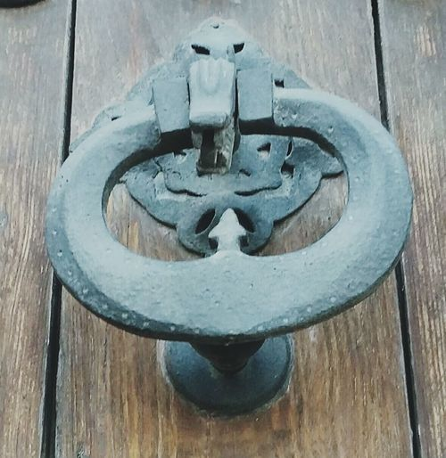 Door Metal Outdoors Close-up