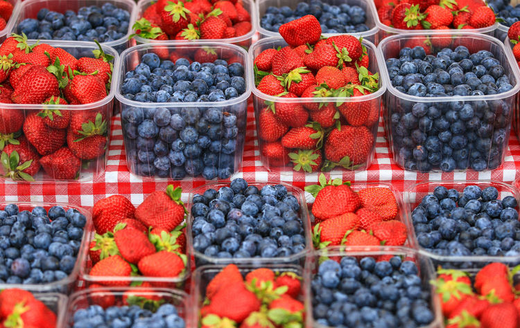 Abundance Basket Berry Berry Fruit Blueberry Choice Day Food Food And Drink Freshness Fruit Healthy Eating Large Group Of Objects No People Outdoors Red Ripe Still Life Strawberry Variation