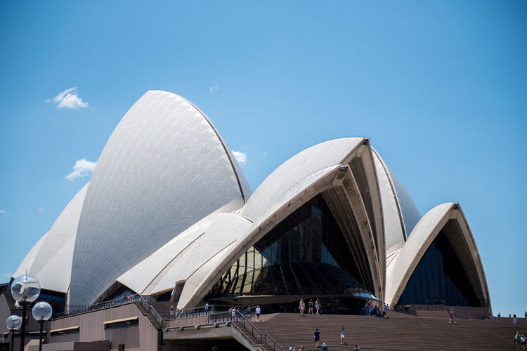Sydney Sydney, Australia Sydney Opera House Harbour Australia Travel Travel Destinations Architecture Sky Built Structure Building Exterior Tourism City Day Nature Blue Low Angle View Modern Arts Culture And Entertainment Outdoors Building Clear Sky Incidental People