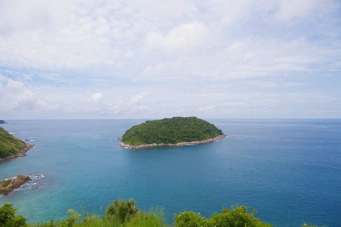 Beautiful Phuket Travel View Beach Beauty In Nature Blue Day Horizon Over Water Idyllic Island Landscape Moutain Nature No People Outdoors Scenery Scenics Sea Sky Summer Tranquil Scene Tranquility Water