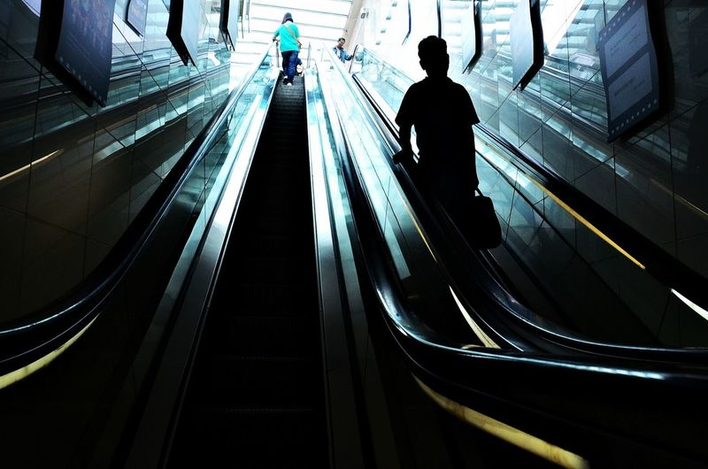 Staircase of escalator