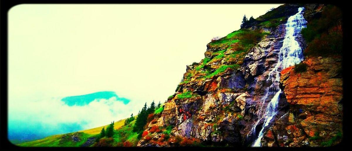 Fog and stone on Transfagaraşan, Carpathians Mountains