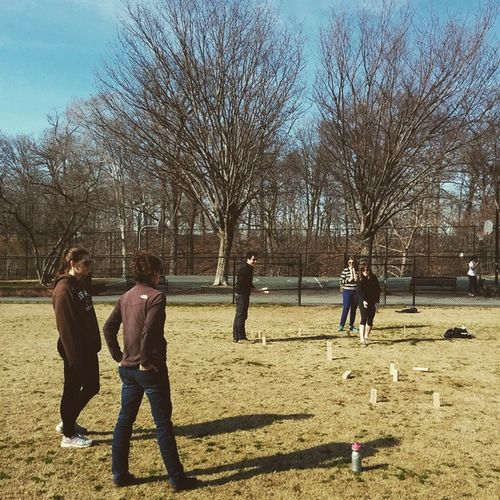Kubb with the Mallahans