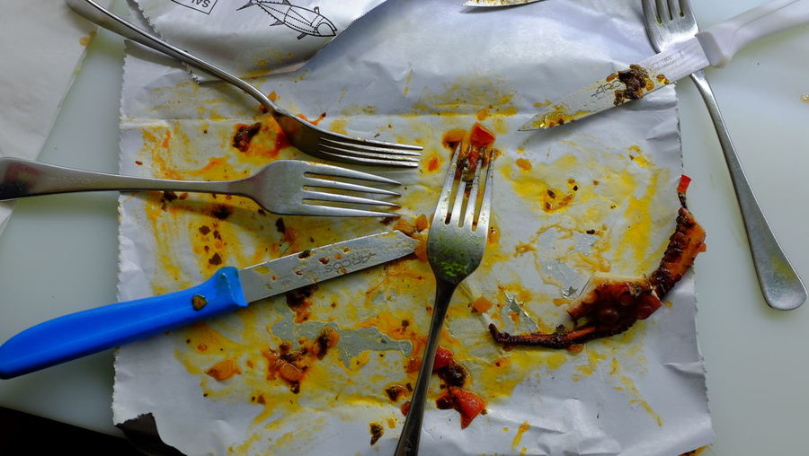 Eating Emptyplates Fork SPAIN Spanish Table Tapas