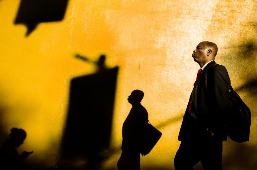 Dean St. 2016 The Street Photographer - 2017 EyeEm Awards Shadow Streetphotography Ricoh GR II Ricoh Gr2 Brooklyn Street First Eyeem Photo Men People Yellow Suit Redtie The Week On EyeEm Paint The Town Yellow
