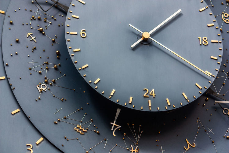Astronomical Clock Clock Clock Tower Close-up Day Digits No People Outdoors Pointer Starsigns Time