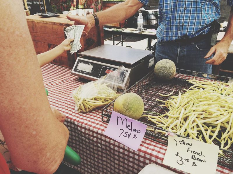 Buying Fresh Produce Farmers Market Farm To Table Purchases Purchase