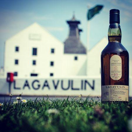 Lagavulin Feis Isle bottle at the distillery. Distillery Lagavulin Whisky Scotch Bottle Food And Drink