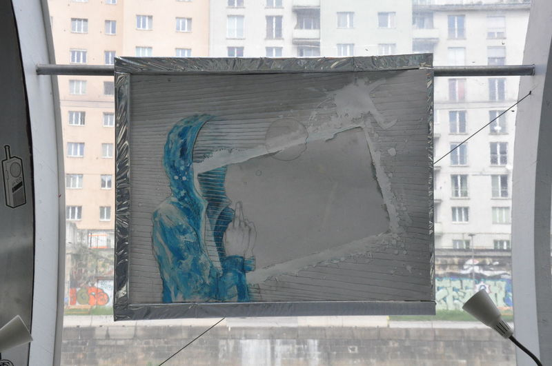 Badeschiff, Vienna/Austria Built Structure City Close-up Day Exhibition My Artwork No People Outdoors Statue Window
