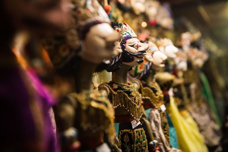Close-Up Of Figurines For Sale