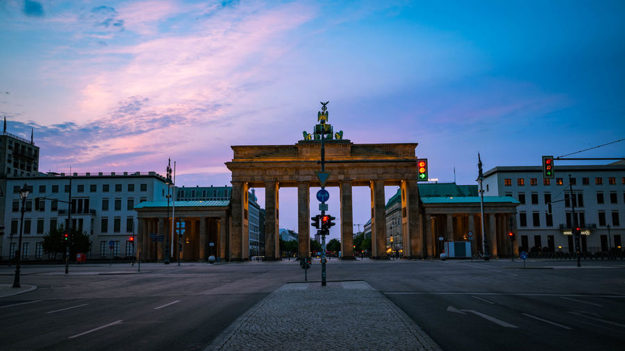 Sunrise over Brandenburger Tor, Berlin Berlin Blue Hour Deutschland Architectural Column Architecture Brandenburger Tor Building Exterior Built Structure City City Gate Cloud - Sky Germany Group Of People History Incidental People Lifestyles Men Nature Real People Sky The Past Tourism Transportation Travel Travel Destinations