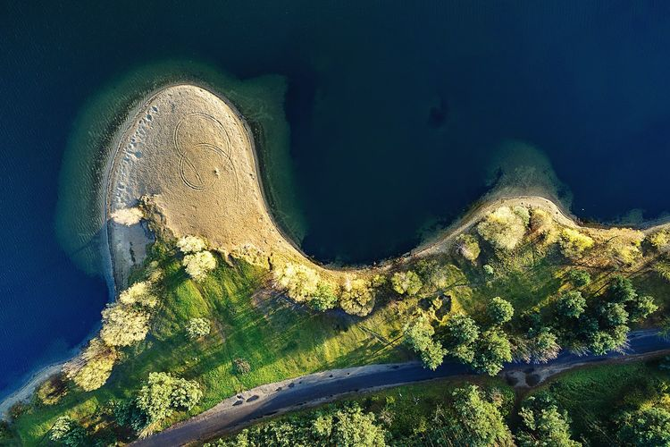 Curve | Lampedis Lake | Nature No People Day Beauty In Nature Dronephotography Aerial Photography Phantom 3 Phantom 3 Advanced Drone  A Bird's Eye View Sea Autumn Collection Lietuva Lampėdžiai Fresh On Market 2016