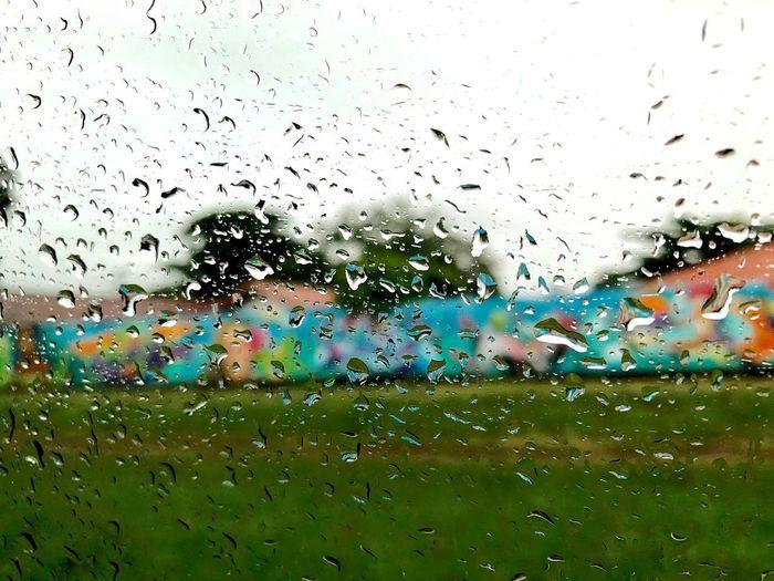 Wet Glass - Material Rain Window Drop Transparent Water