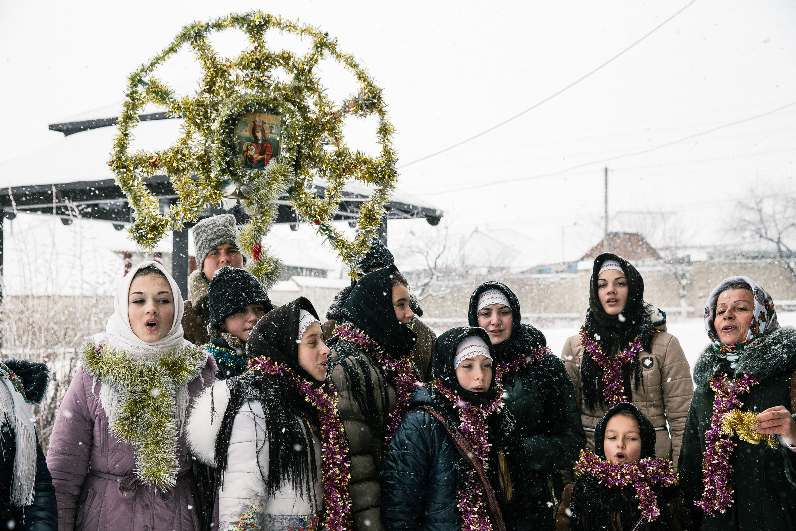 real people, celebration, group of people, winter, young adult, women, clothing, warm clothing, event, people, cold temperature, emotion, happiness, nature, young women, snow, lifestyles, decoration