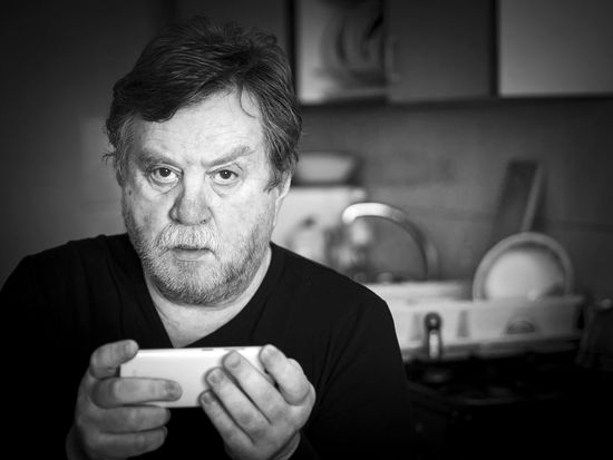 Black and white portrait of pensive mature man with cell phone Man Must Pensive Adult Adults Only Black And White Breaded Caucasian Close-up Communication Day Domestic Kitchen Domestic Room Human Hand Indoors  Kitchen One Man Only One Person People Portable Information Device Portrait Real People Senior Adult Technology Wireless Technology