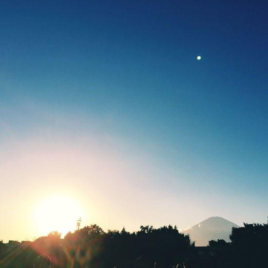 Mtfuji Mountains Japan Sunset View Nature Freshair Autumn